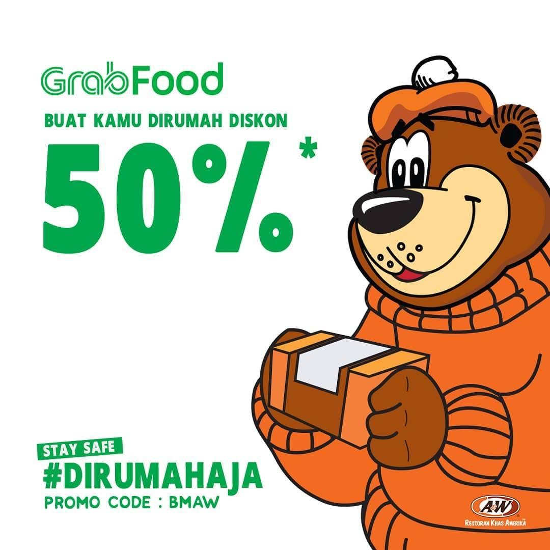 A&W Restaurant Promo Diskon 50% Pemesanan Via GrabFood