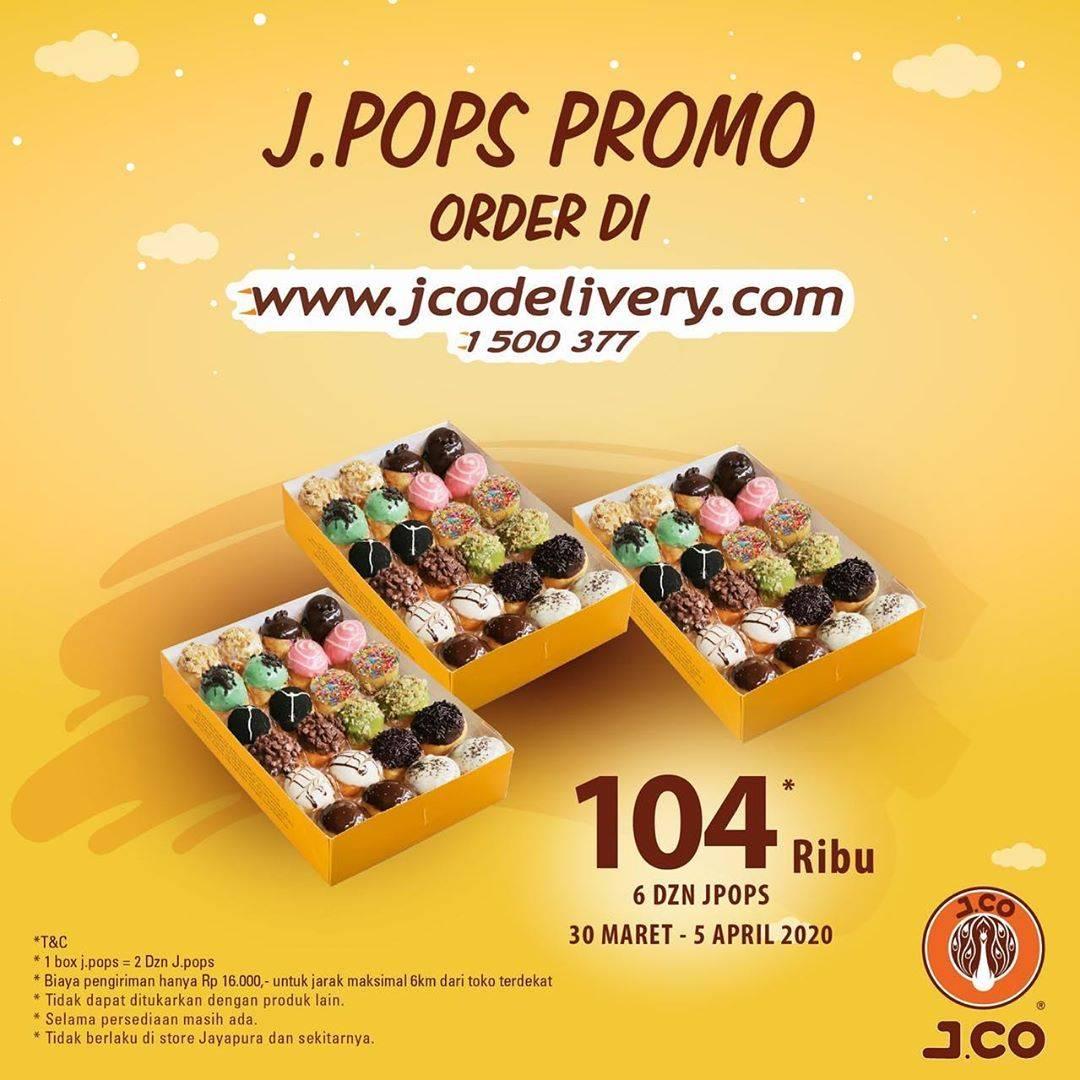 J.CO Promo Beli 6 Lusin JPops Hanya Rp. 104.000