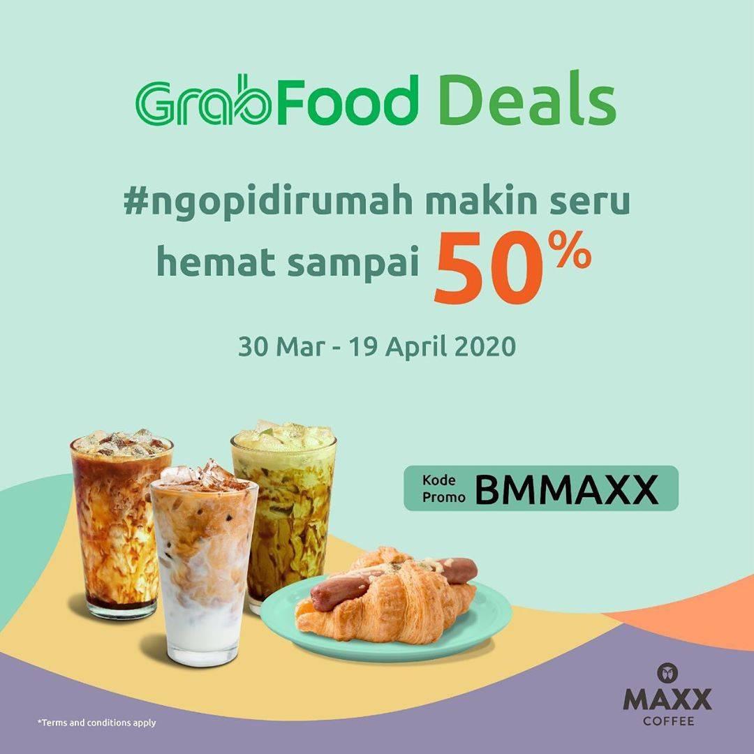 Maxx Coffee Promo GrabFood Deals, Diskon Hingga 50% Pembelian Via GrabFood App