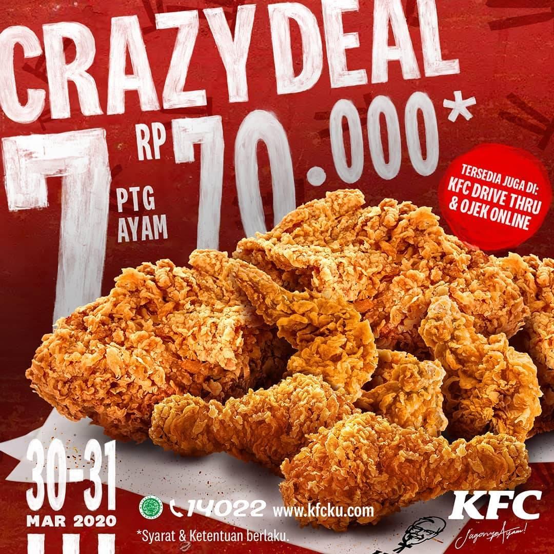 KFC Promo Crazy Deal, Beli 7 Pcs Ayam Hanya Rp. 70.000
