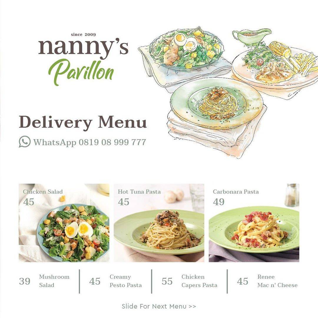Nannys Pavillon Promo Delivery Menu Special Value Start From IDR 39.000