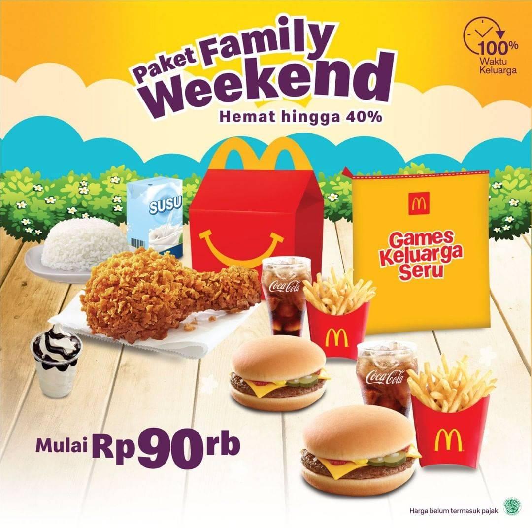 McDonalds Promo Diskon 40% Untuk Paket Family Weekend Harga Mulai Dari Rp. 90.000