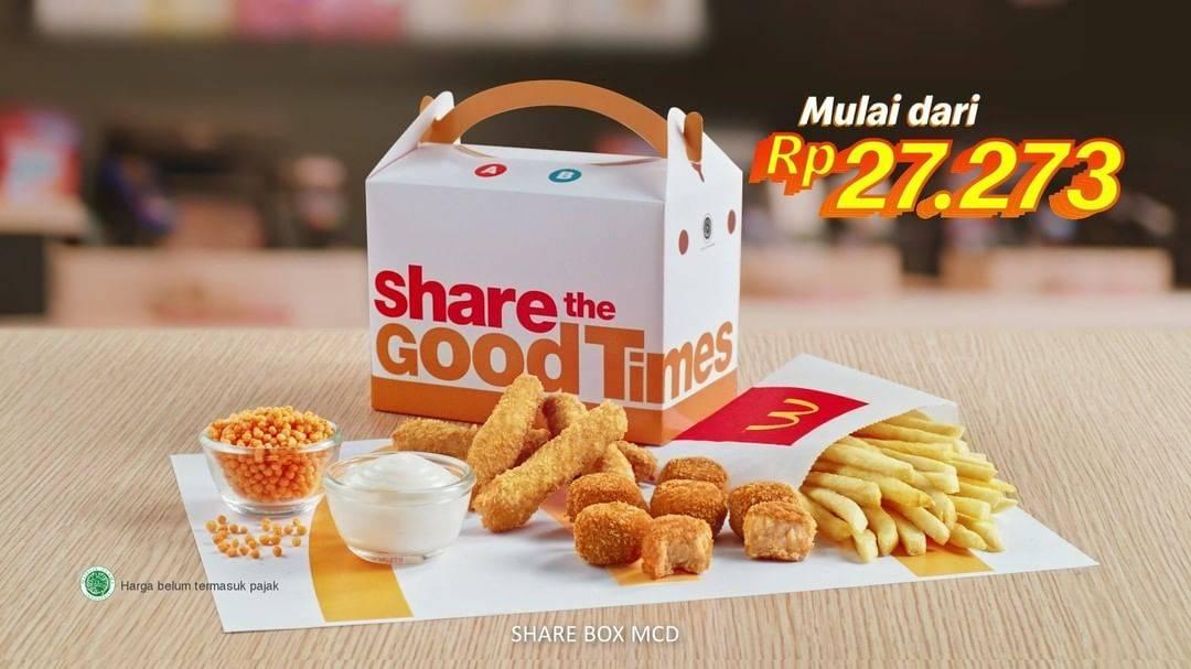 McDonalds Promo Harga Spesial Share Box + Saus Nacho Cheese Mulai Dari Rp. 27.273