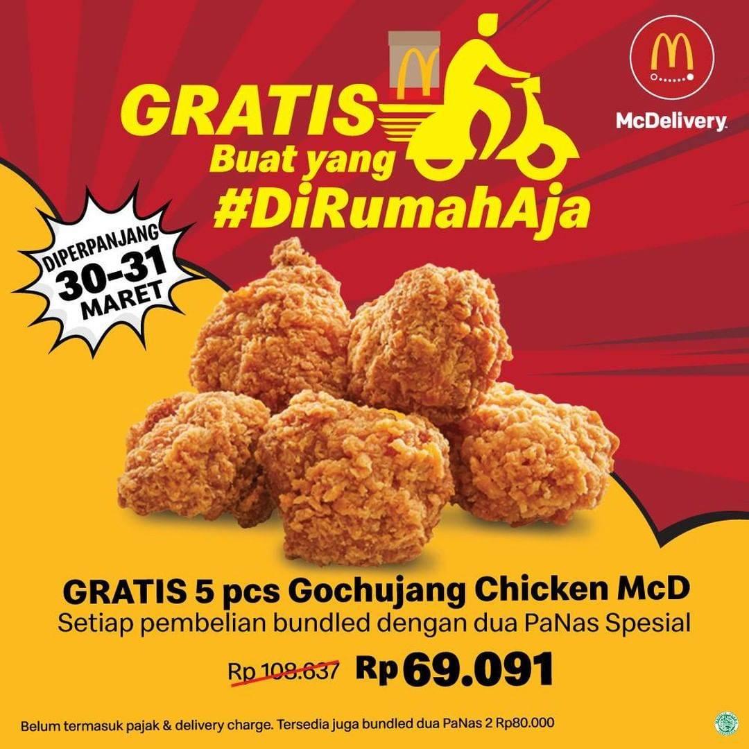 McDonalds Promo Gratis 5 Pcs Gochujang Setiap Pemesanan Paket Pilihan Via McDelivery