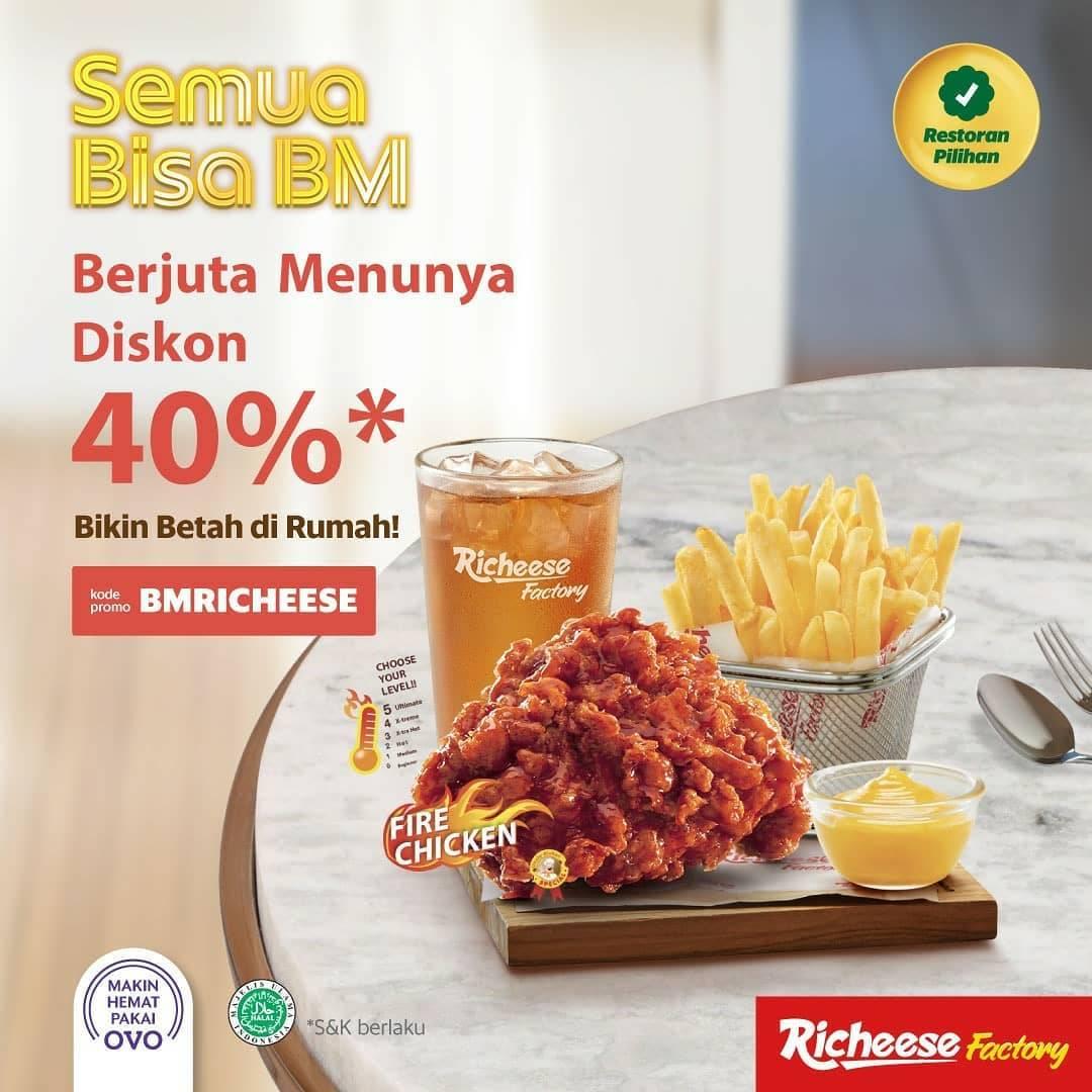 Richeese Factory Promo Diskon 40% Dengan Pemesanan Via GrabFood