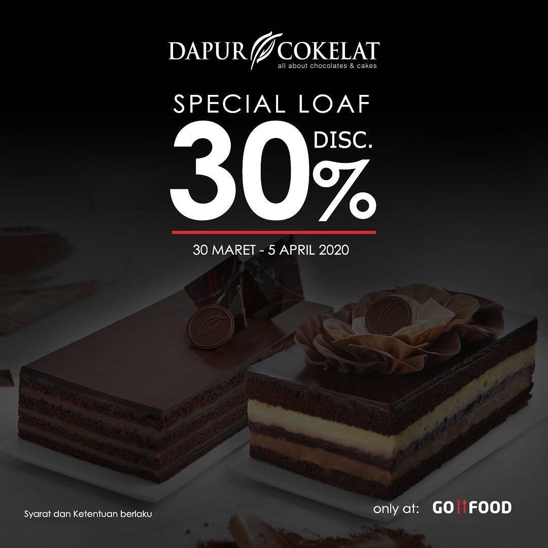 Dapur Cokelat Promo Diskon 30% Untuk Cake Berukuran Loaf Untuk Pemesanan Via GoFood