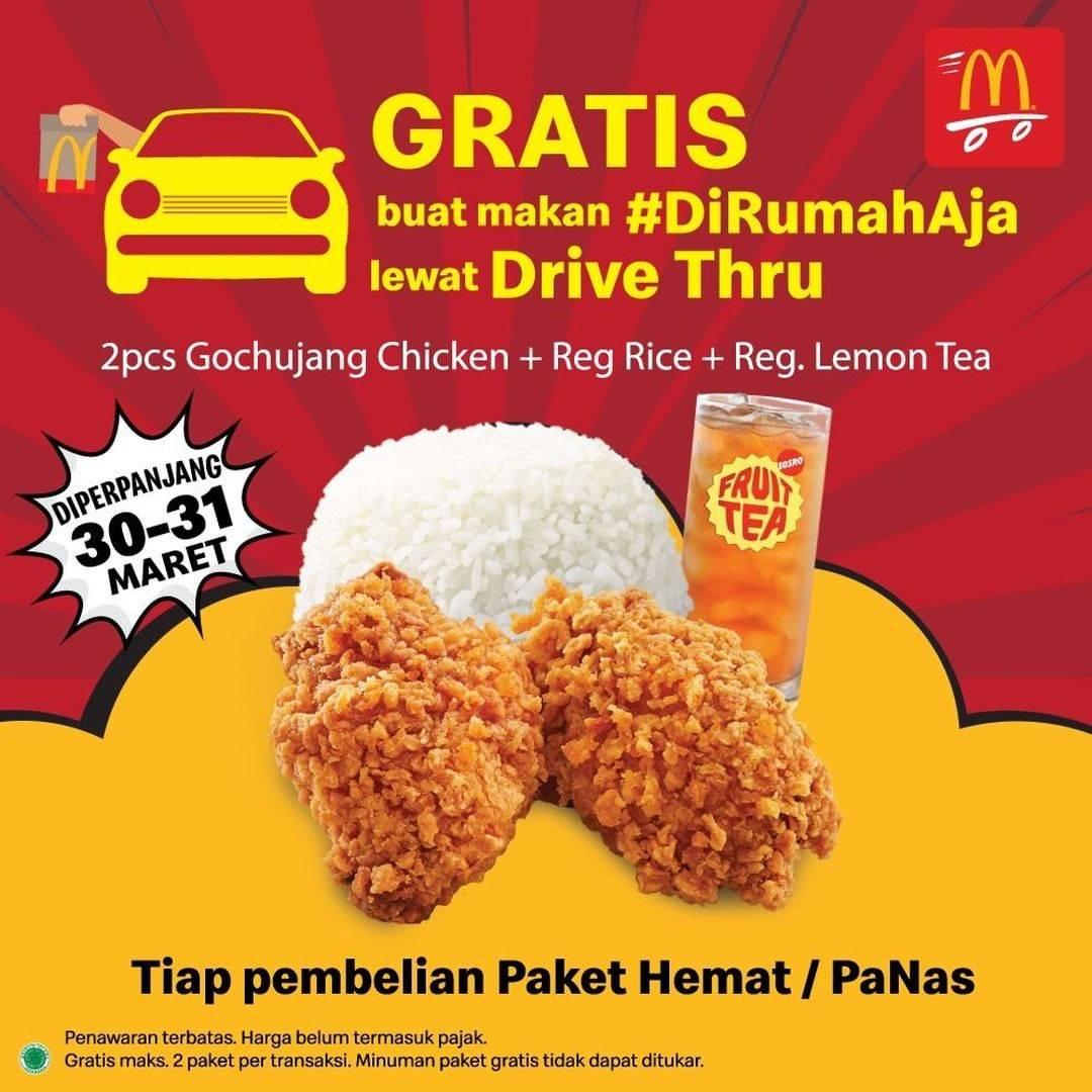 McDonalds Promo Gratis Paket Gochujang With Rice Setiap Pembelian Paket Hemat/PaNas