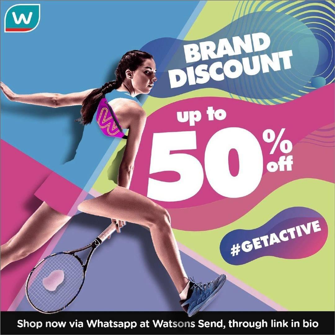 Watsons Promo Diskon Hingga 50% Untuk Produk Pilihan