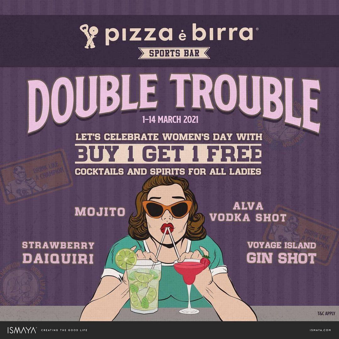 Diskon Pizza E Birra Double Trouble Buy 1 Get 1 Free Pizza