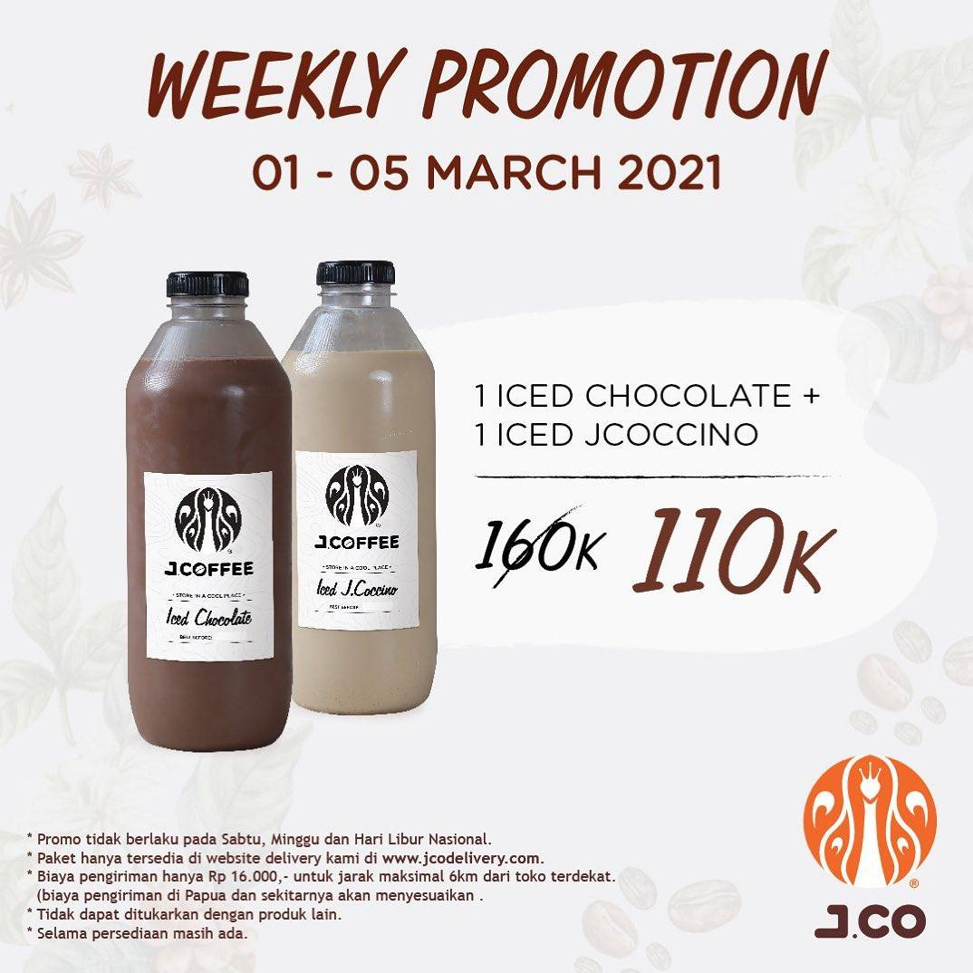 Diskon JCO Weekly Promotion 2L Beverages Only Rp. 110.000