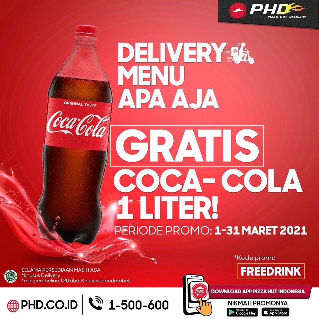 Diskon Pizza Hut Gratis Coca Cola 1L