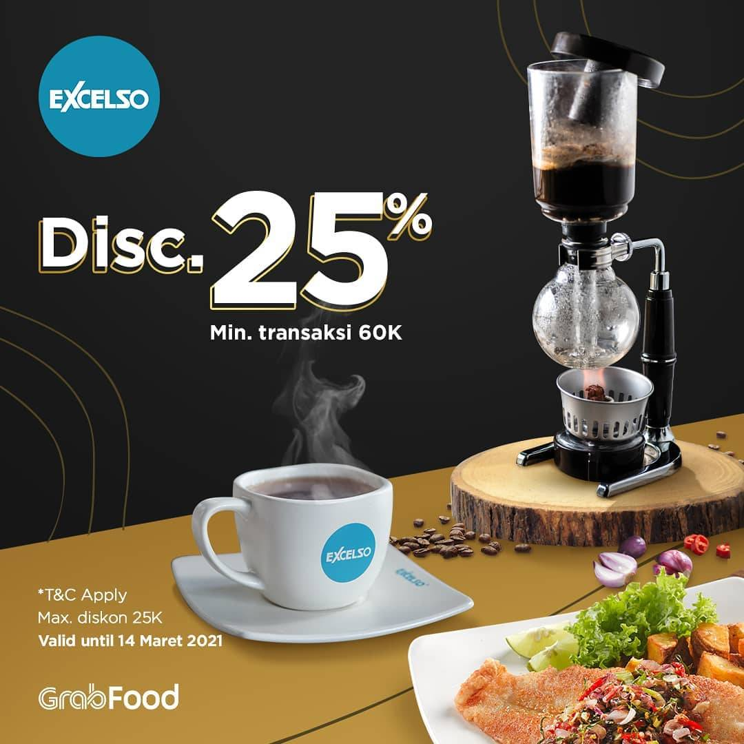Diskon Excelso Discount 25% Off On GrabFood