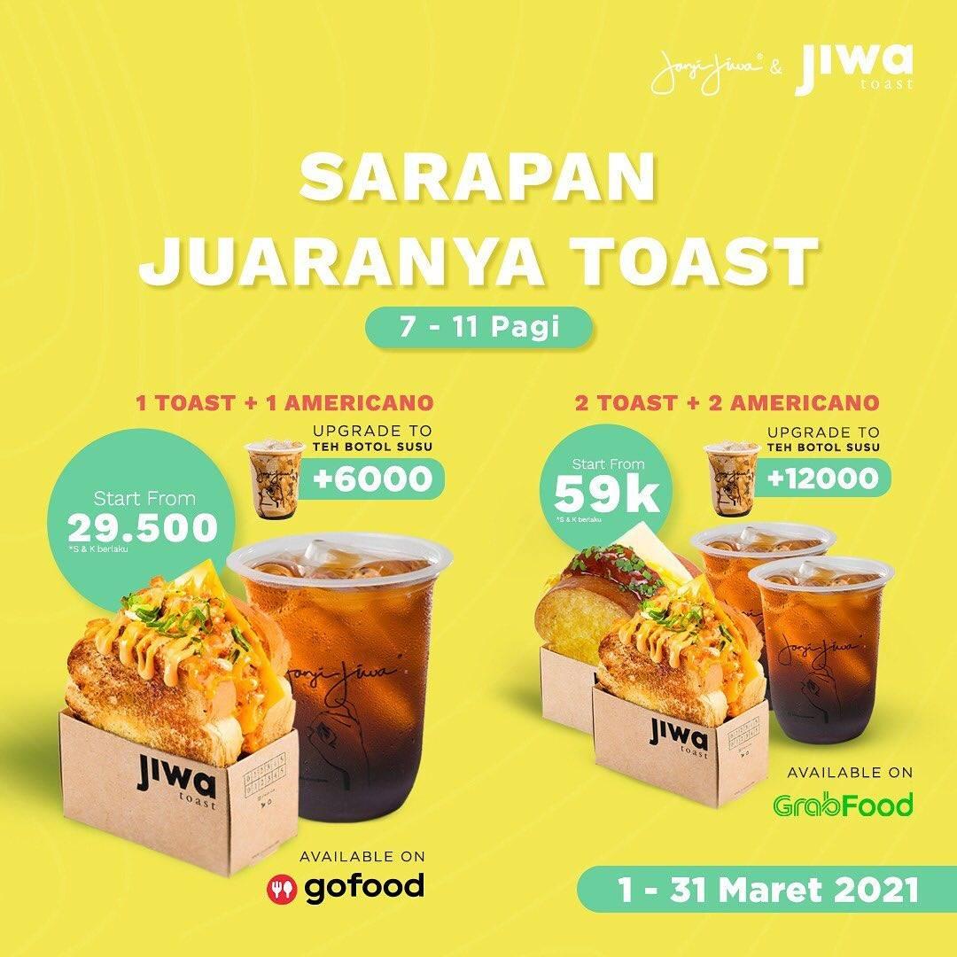 Promo diskon Jiwa Toast Promo Bulan Maret