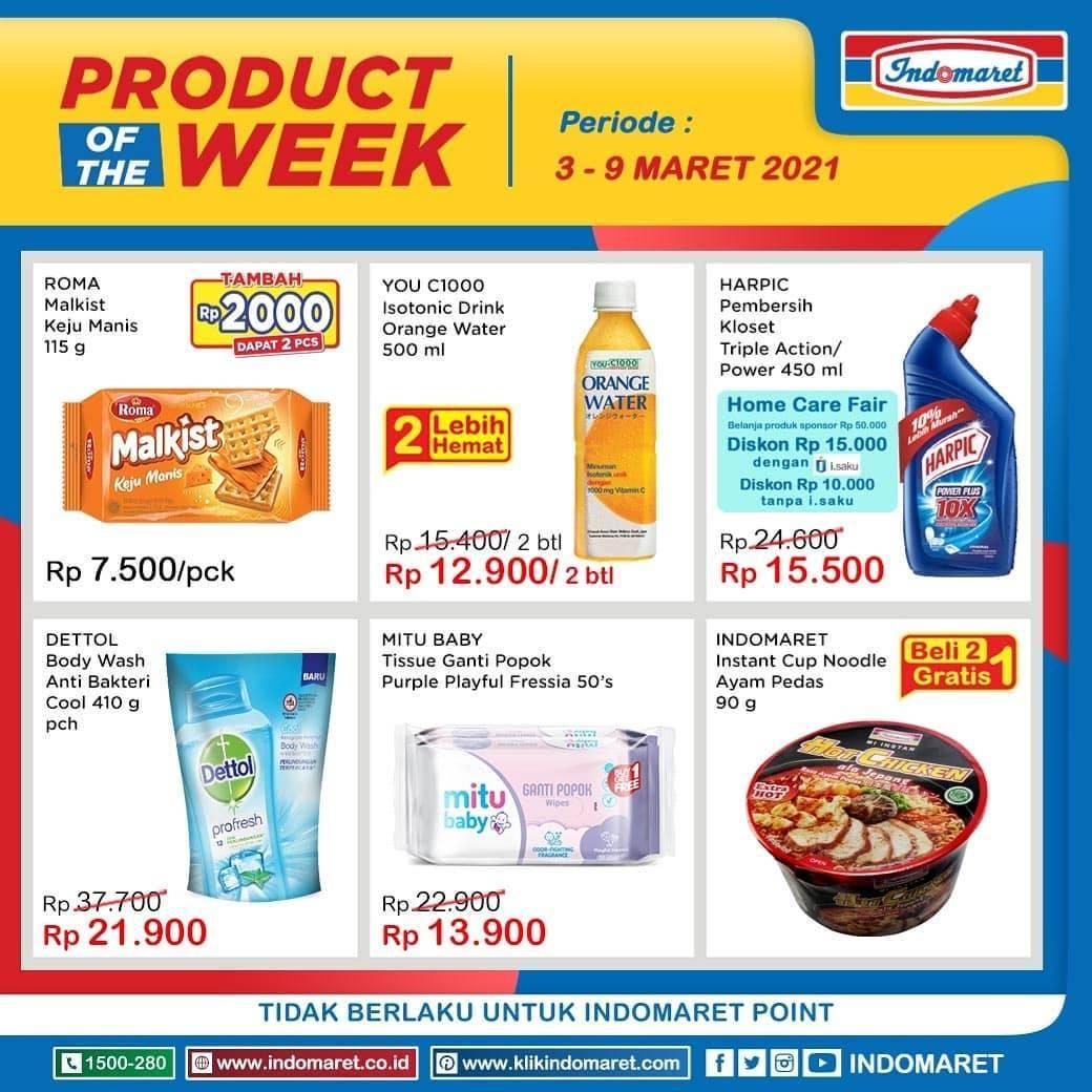 Diskon Katalog Promo Indomaret Product Of the Week Periode 3 - 9 Maret 2021