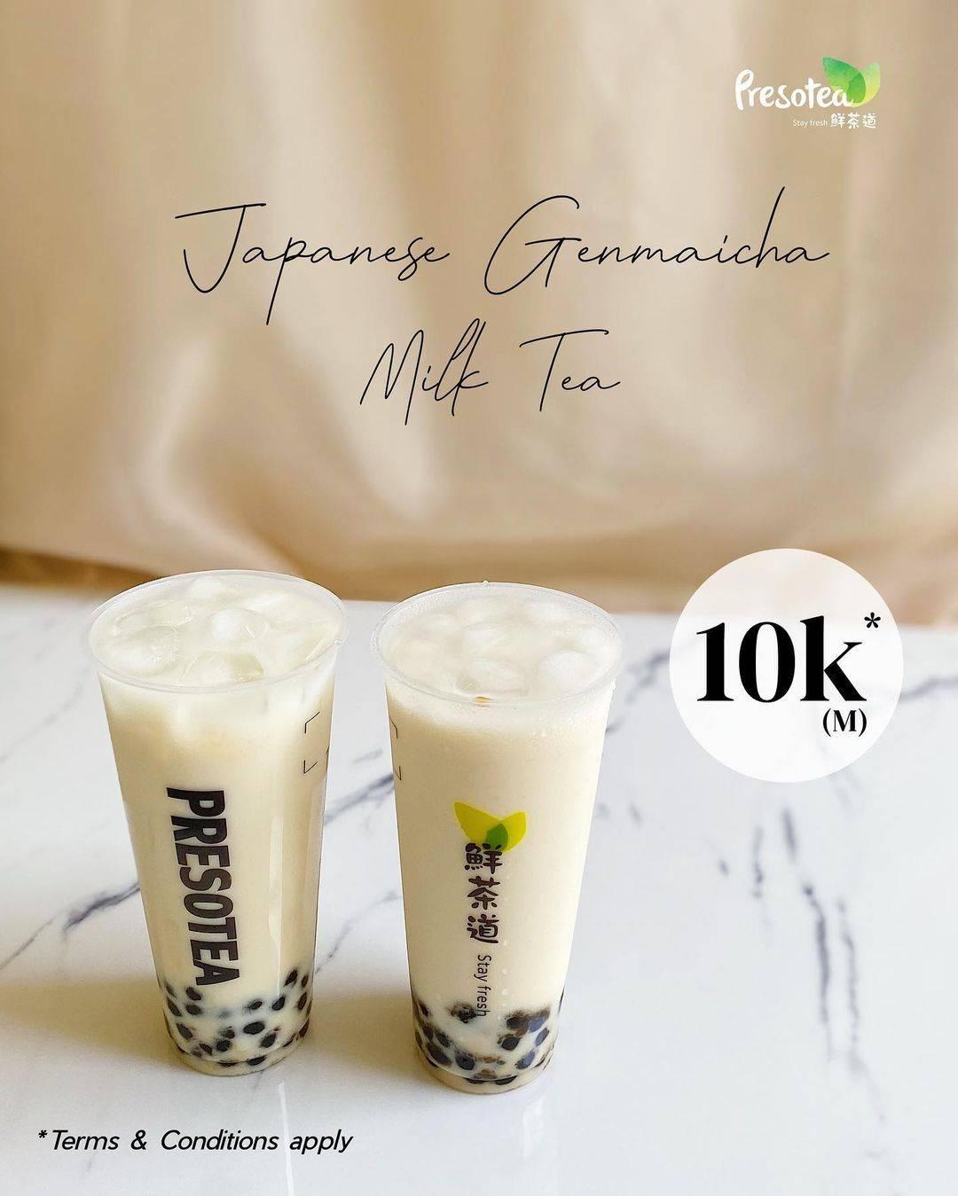 Diskon Preso Tea Promo Japanese Geinmaicha Milktea Hanya Rp. 10.000