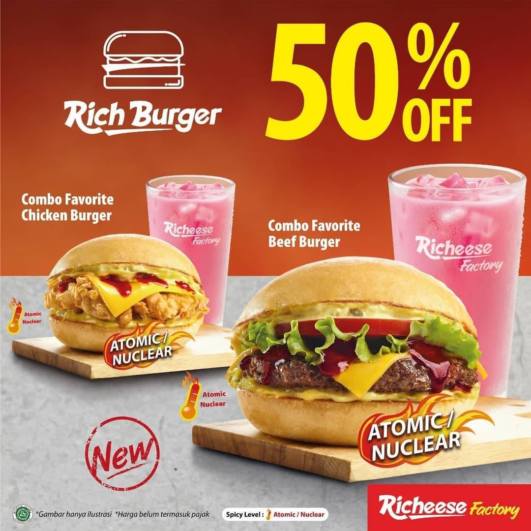 Diskon Rich Burger Discount 50% Off