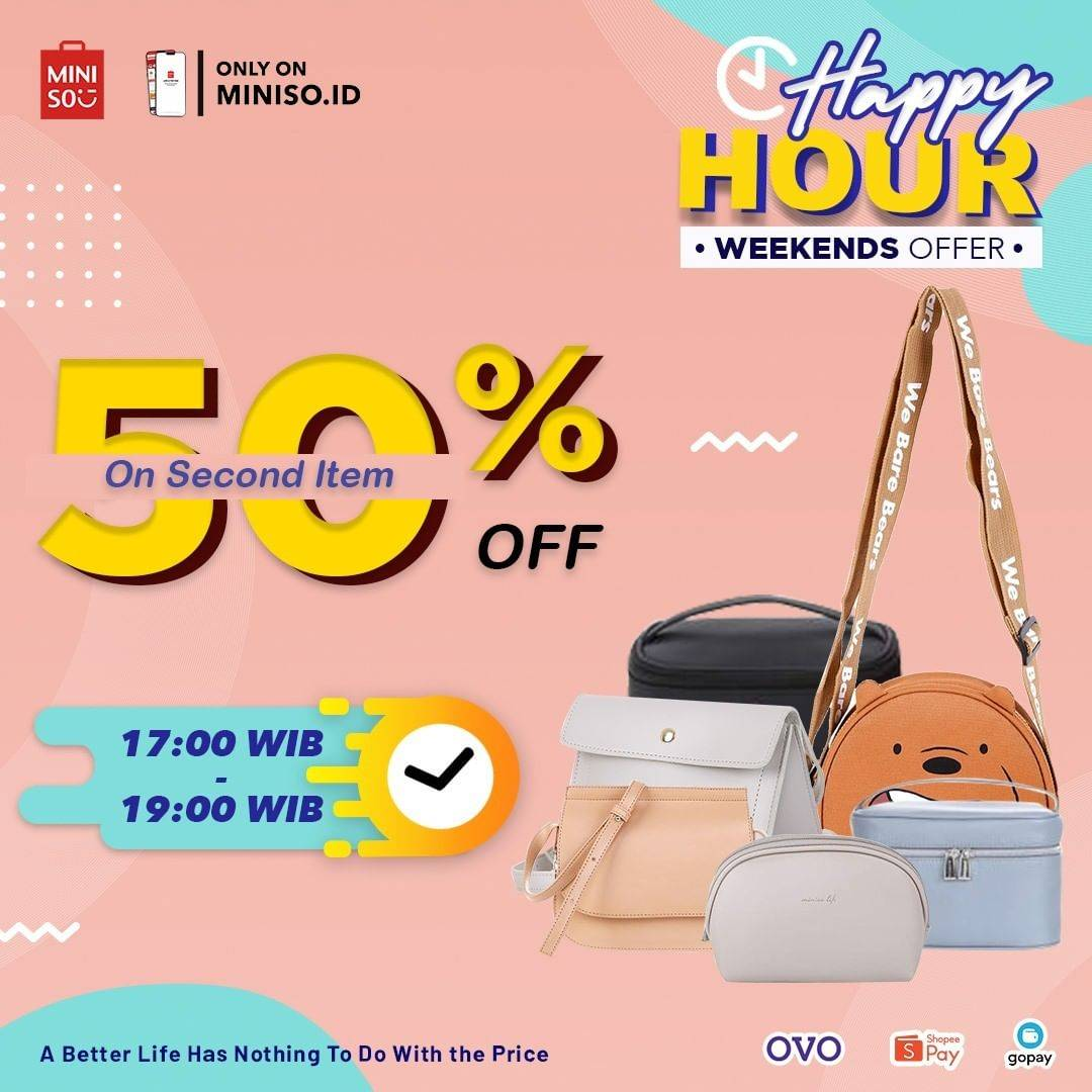 Diskon Miniso Diskon 50% On 2nd Item