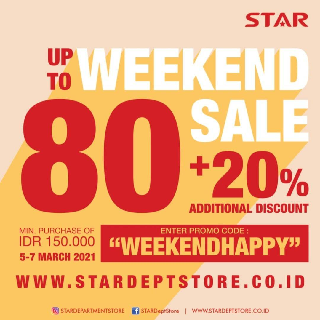 Diskon Star Department Store Weekend Sale Up To 80 +20% Off