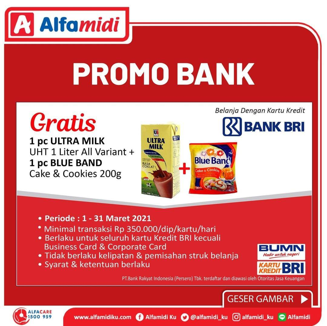 Promo diskon Katalog Alfamidi Promo Bank Terhemat di Alfamidi Periode 1 - 31 Maret 2021