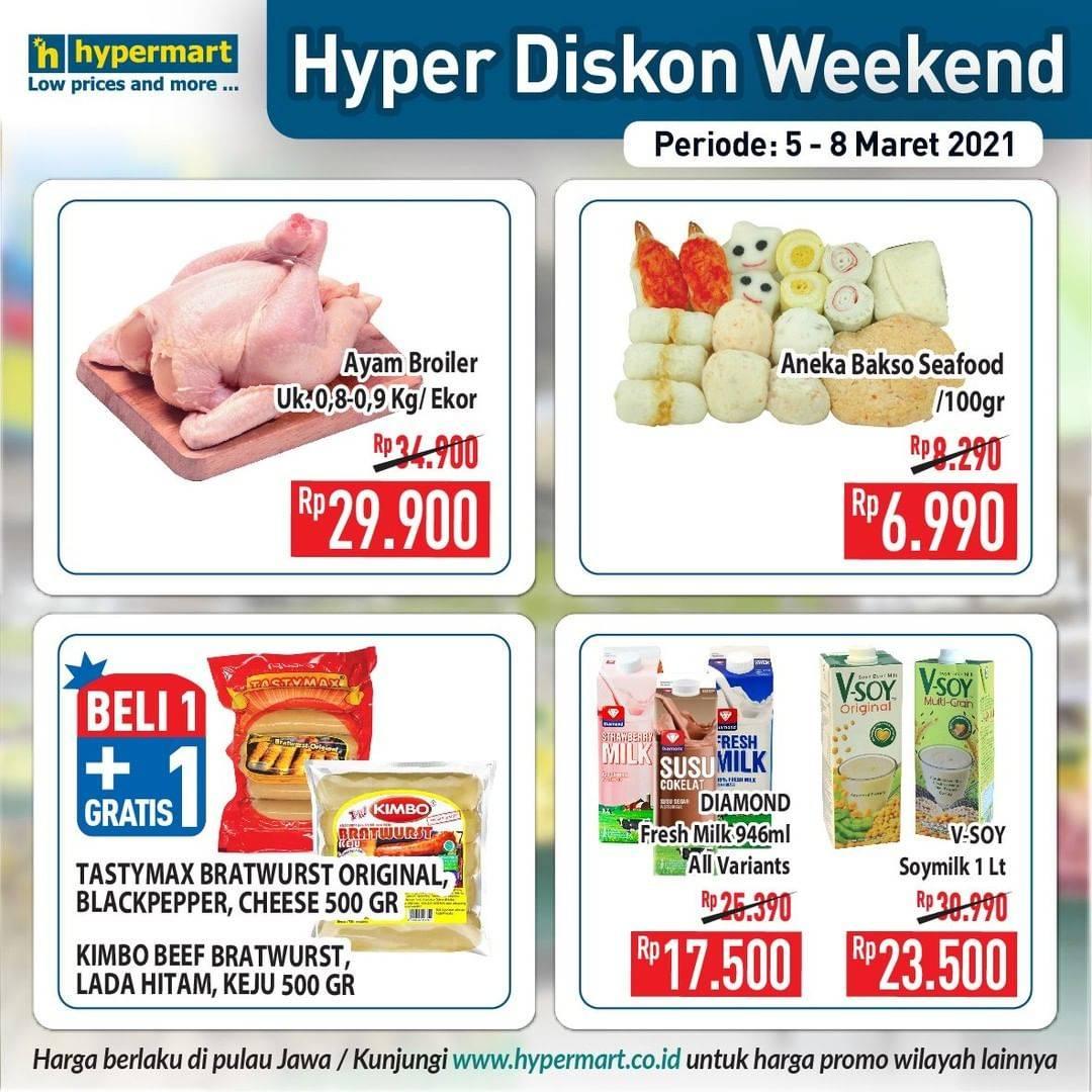 Diskon Katalog Promo Hypermart Diskon Weekday Periode 5 - 8 Maret 2021
