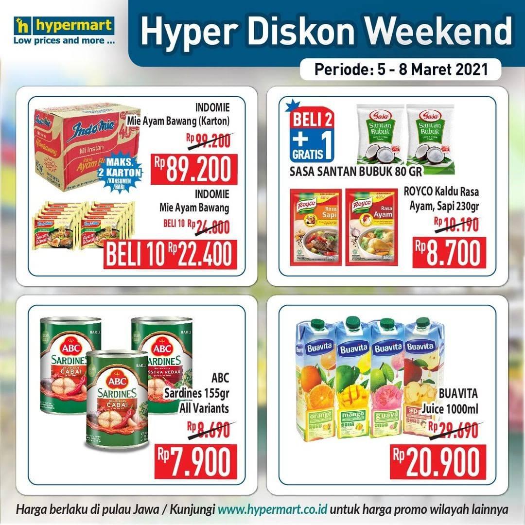 Promo diskon Katalog Promo Hypermart Diskon Weekday Periode 5 - 8 Maret 2021