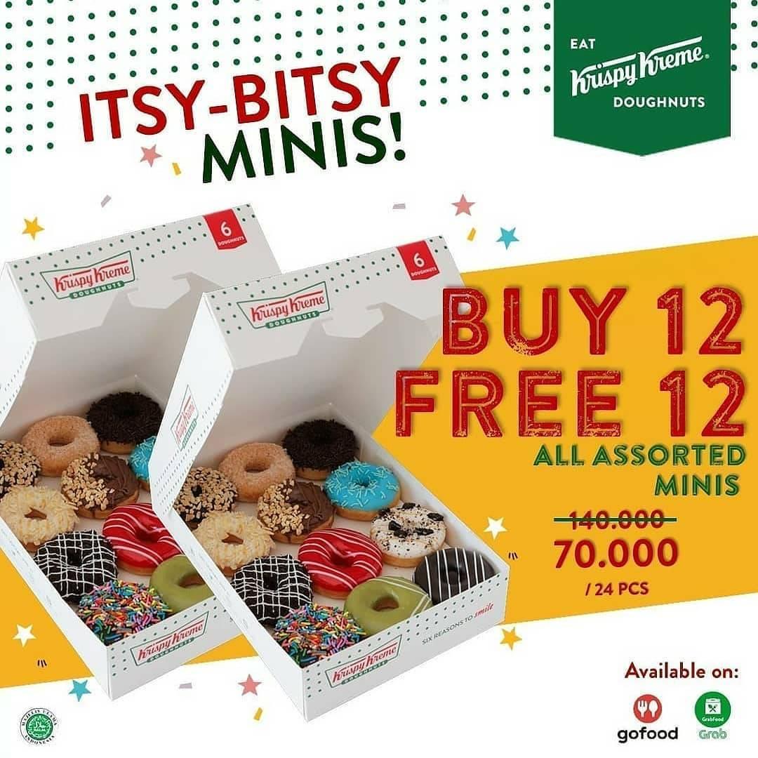 Diskon Krispy Kreme Buy 12 Get 12 Free Doughnuts