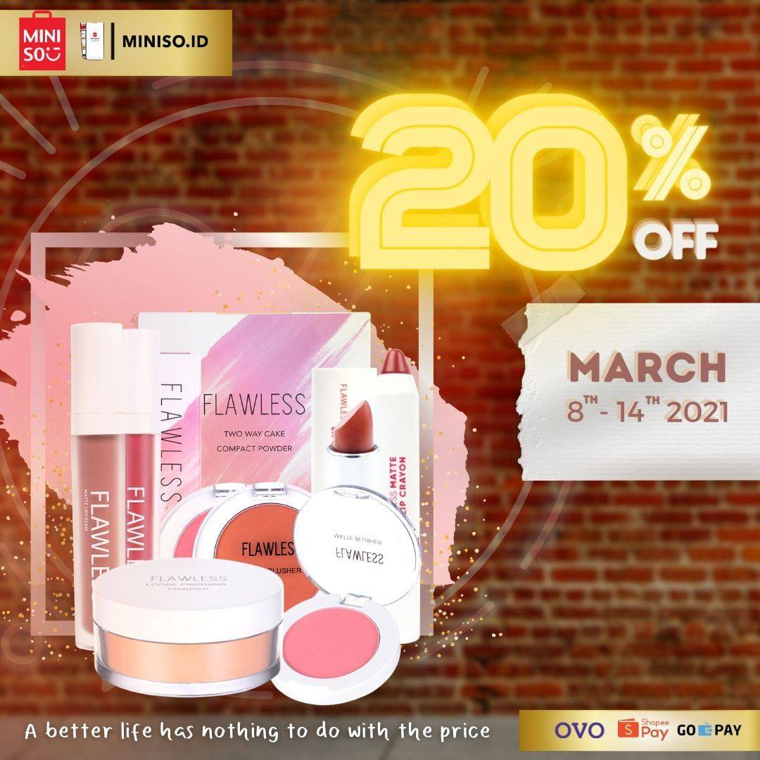 Diskon Miniso Discount 20% Off On Cosmetics