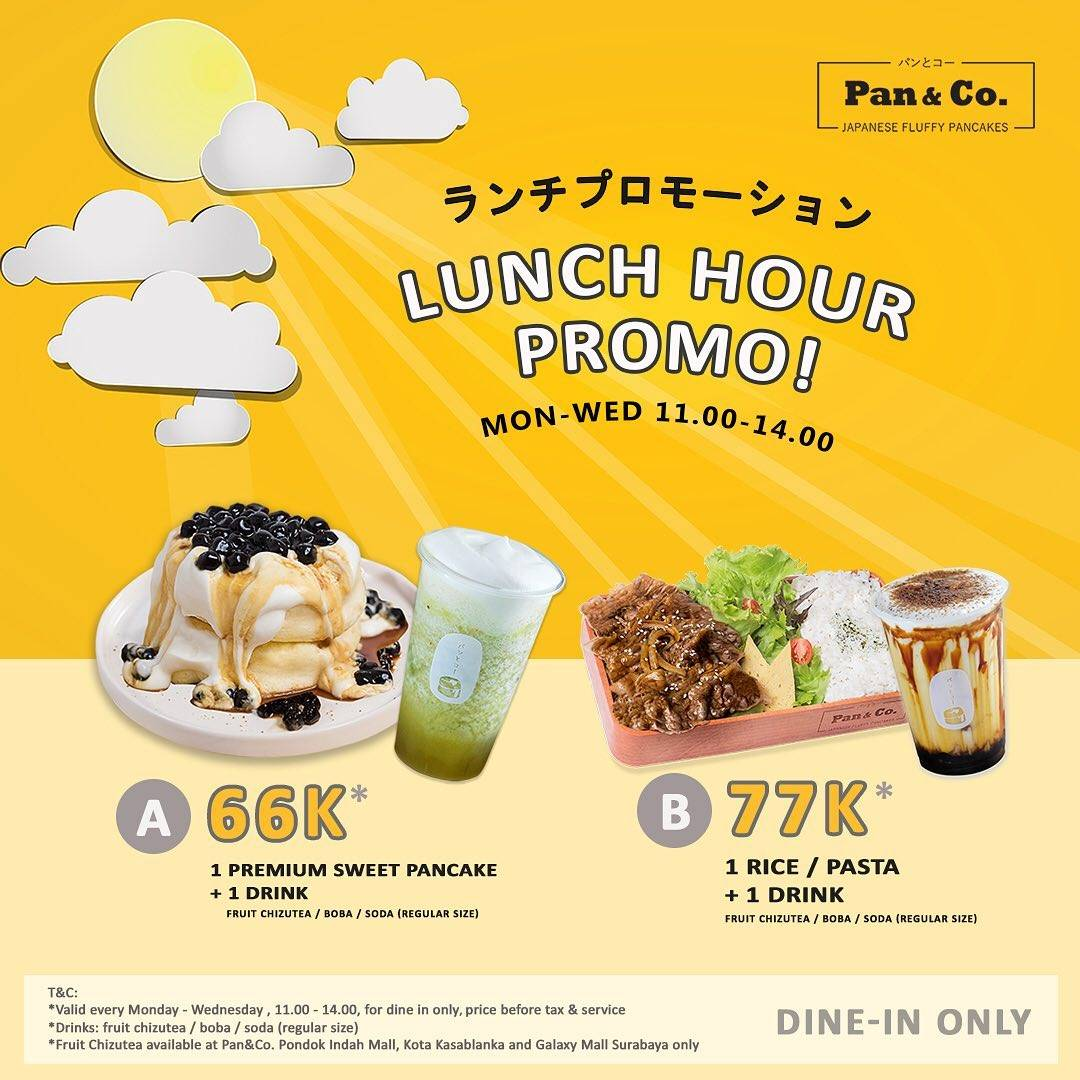 Diskon Pan & Co Lunch Hour Promo Start From Rp. 66.000