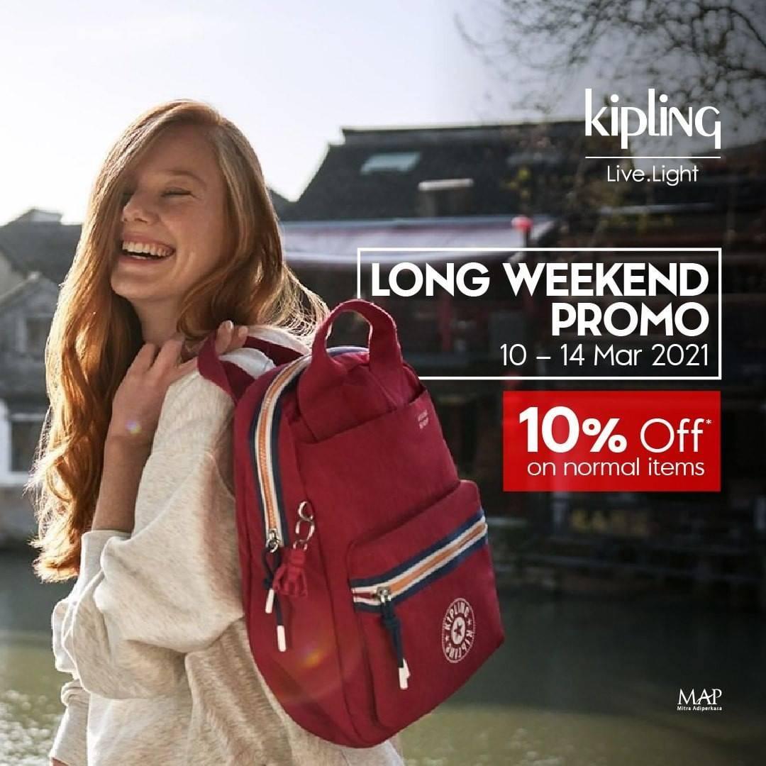 Promo diskon Kipling Discount 10% Off
