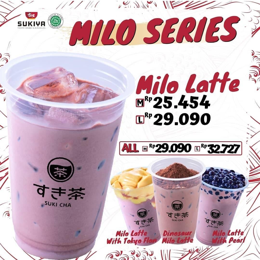 Diskon Sukiya Promo Milo Series Harga Mulai Dari Rp. 25Ribuan