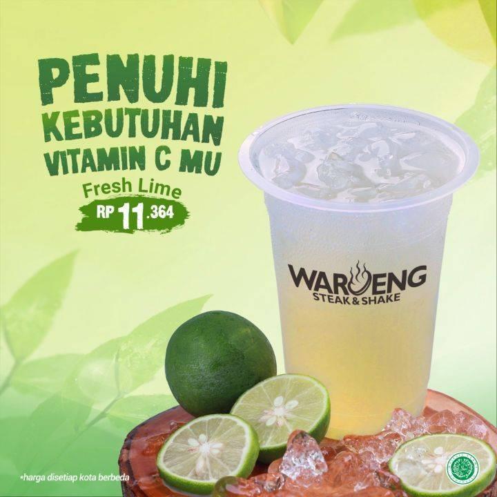 Diskon Waroeng Steak Promo Fresh Lime Hanya Rp. 11.364