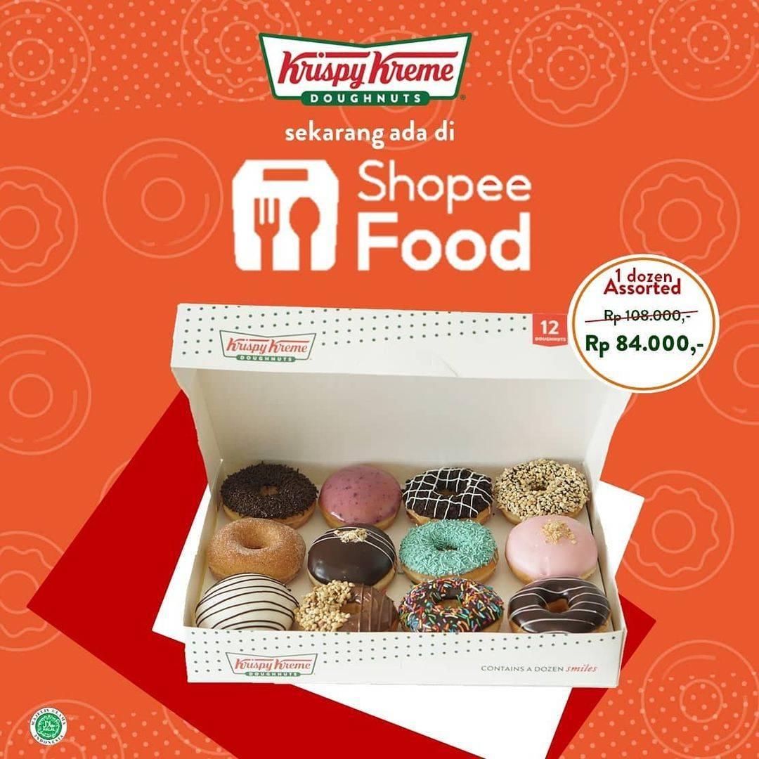 Diskon Krispy Kreme Diskon 50% + Free Ongkir Dengan Shopee Food