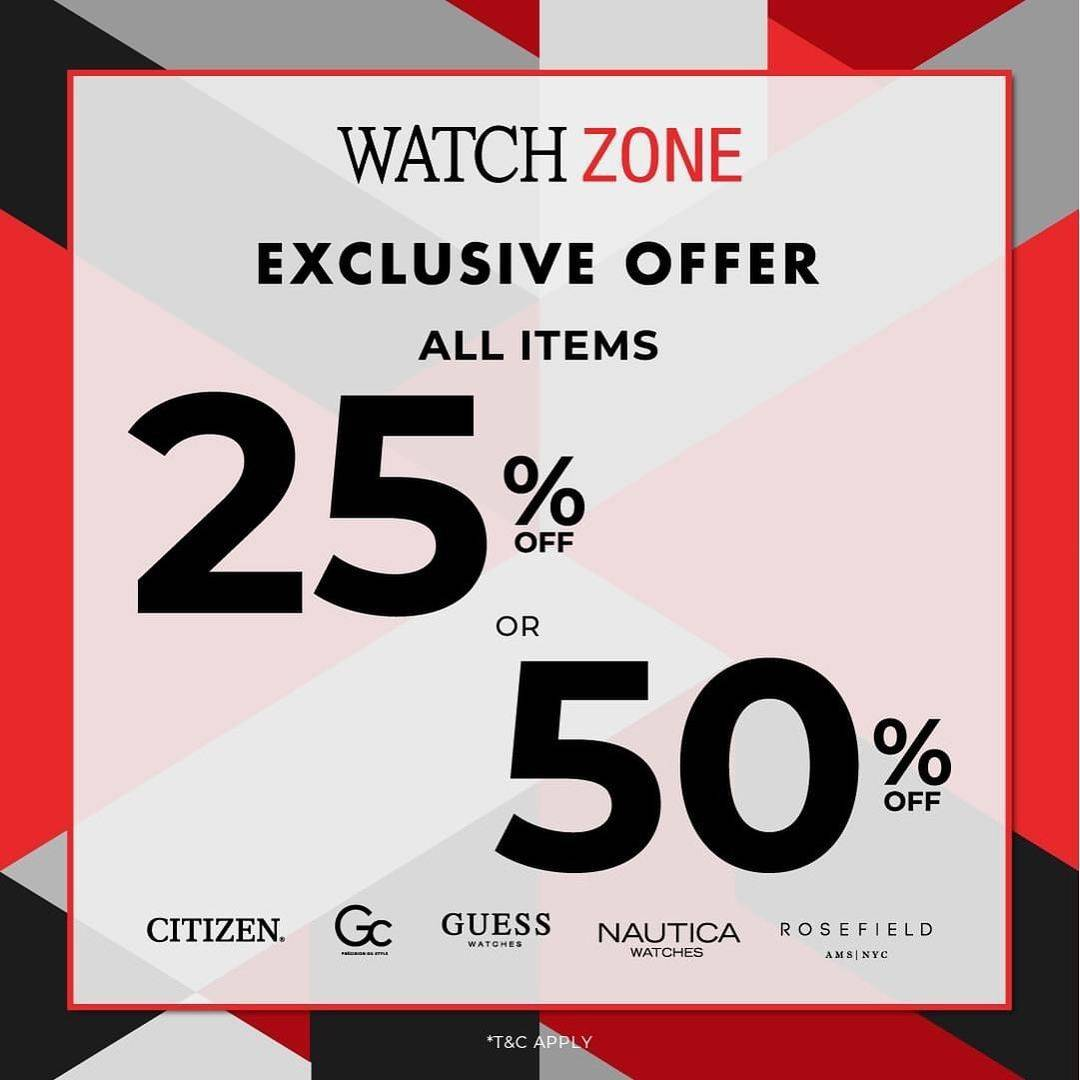 Promo diskon Watch Zone Discount 25% Off Or 50% Off