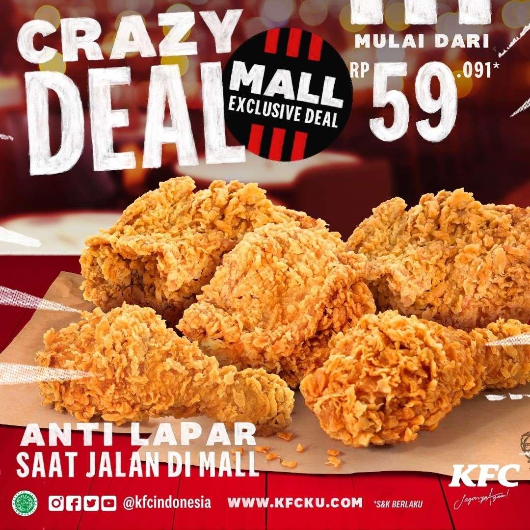 Diskon KFC Crazy Deal Mall Exclusive Deal Harga Mulai Dari Rp. 59.091