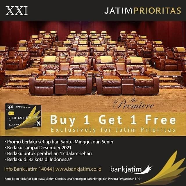 Diskon XXI Buy 1 Get 1 Free Dengan Kartu Debit Jatim Prioritas