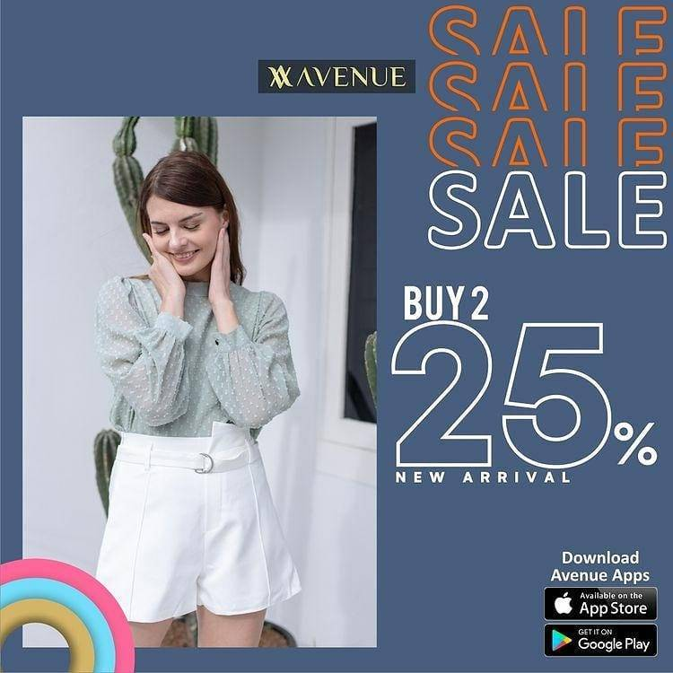 Diskon Avenue Buy 2 Discount 25% Off On New Arrival Items