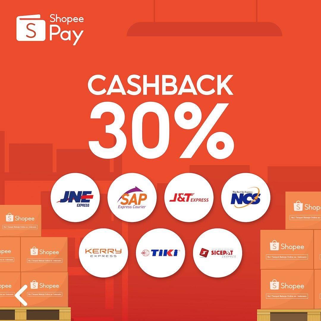 Promo diskon Shopeepay Promo Kirim Paket Cashback 30%