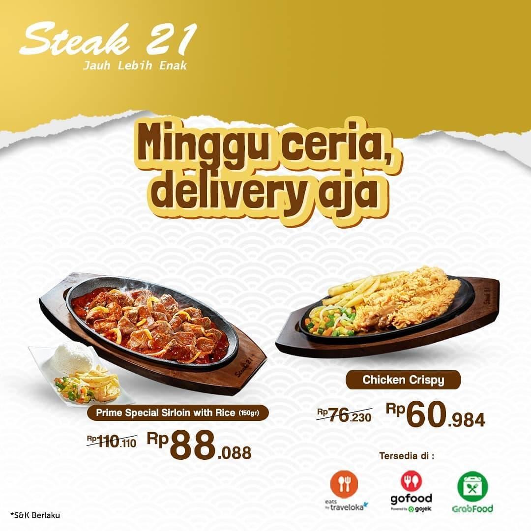 Diskon Steak 21 Diskon 20% Untuk Pemesanan Online