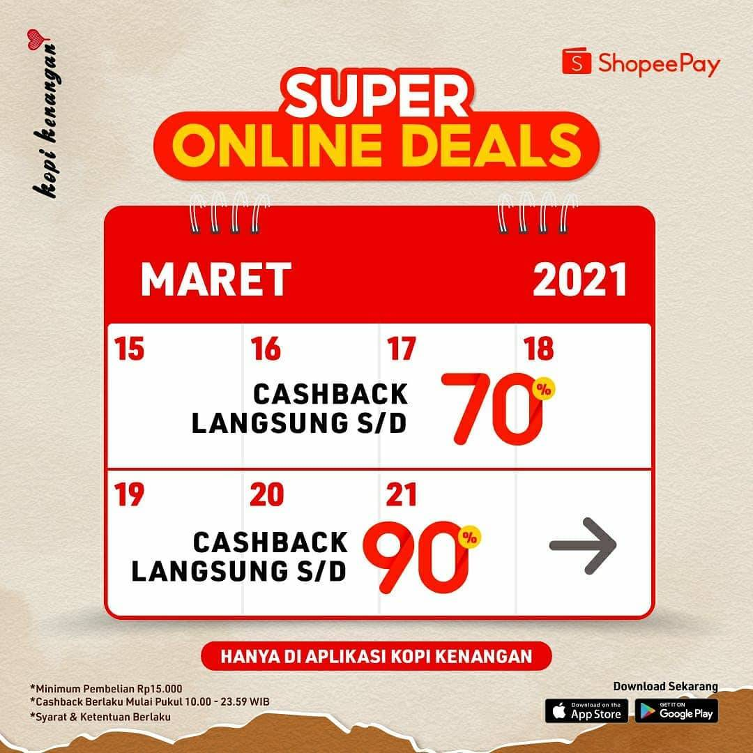 Diskon Kopi Kenangan Super Online Deals Cashback Hingga 90% Dengan Shopeepay