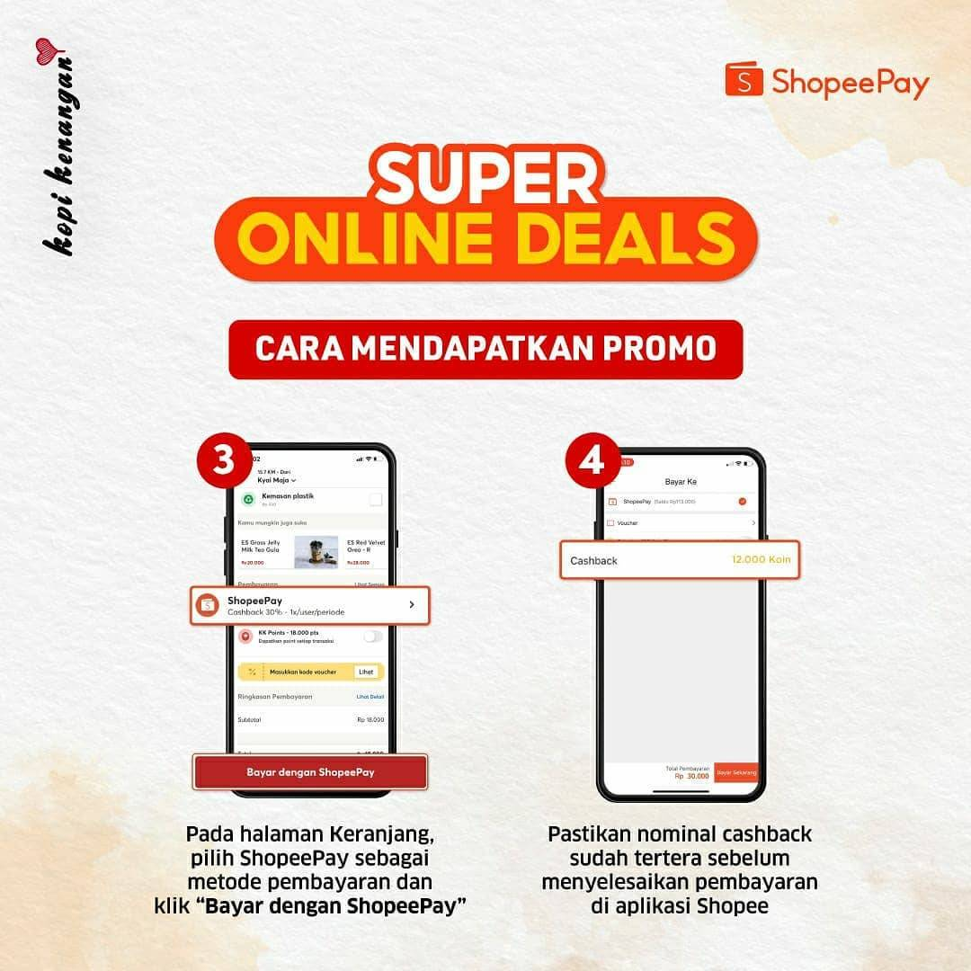 Promo diskon Kopi Kenangan Super Online Deals Cashback Hingga 90% Dengan Shopeepay