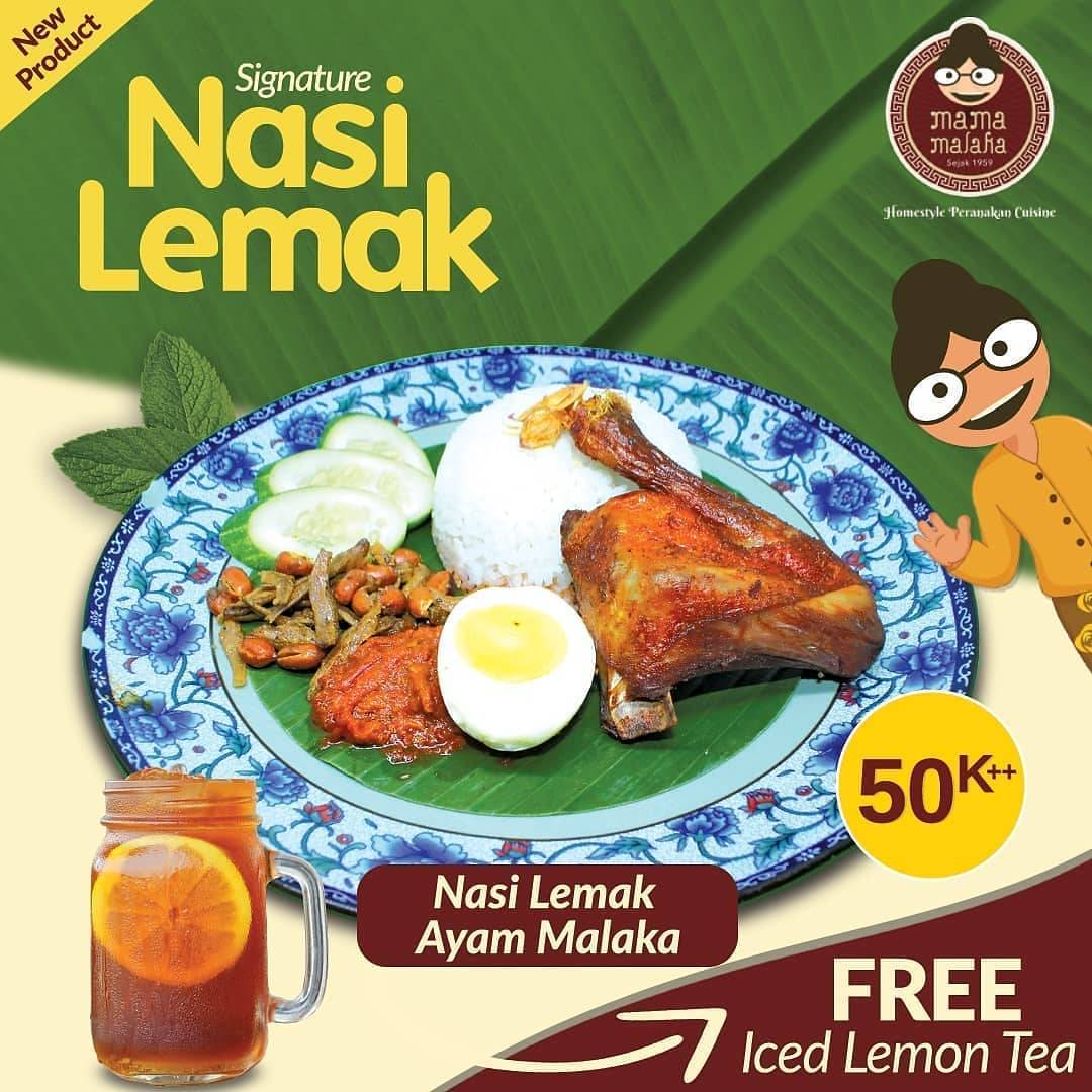 Diskon Mama Malaka Promo Signature Nasi Lemak Only For Rp. 50.000++