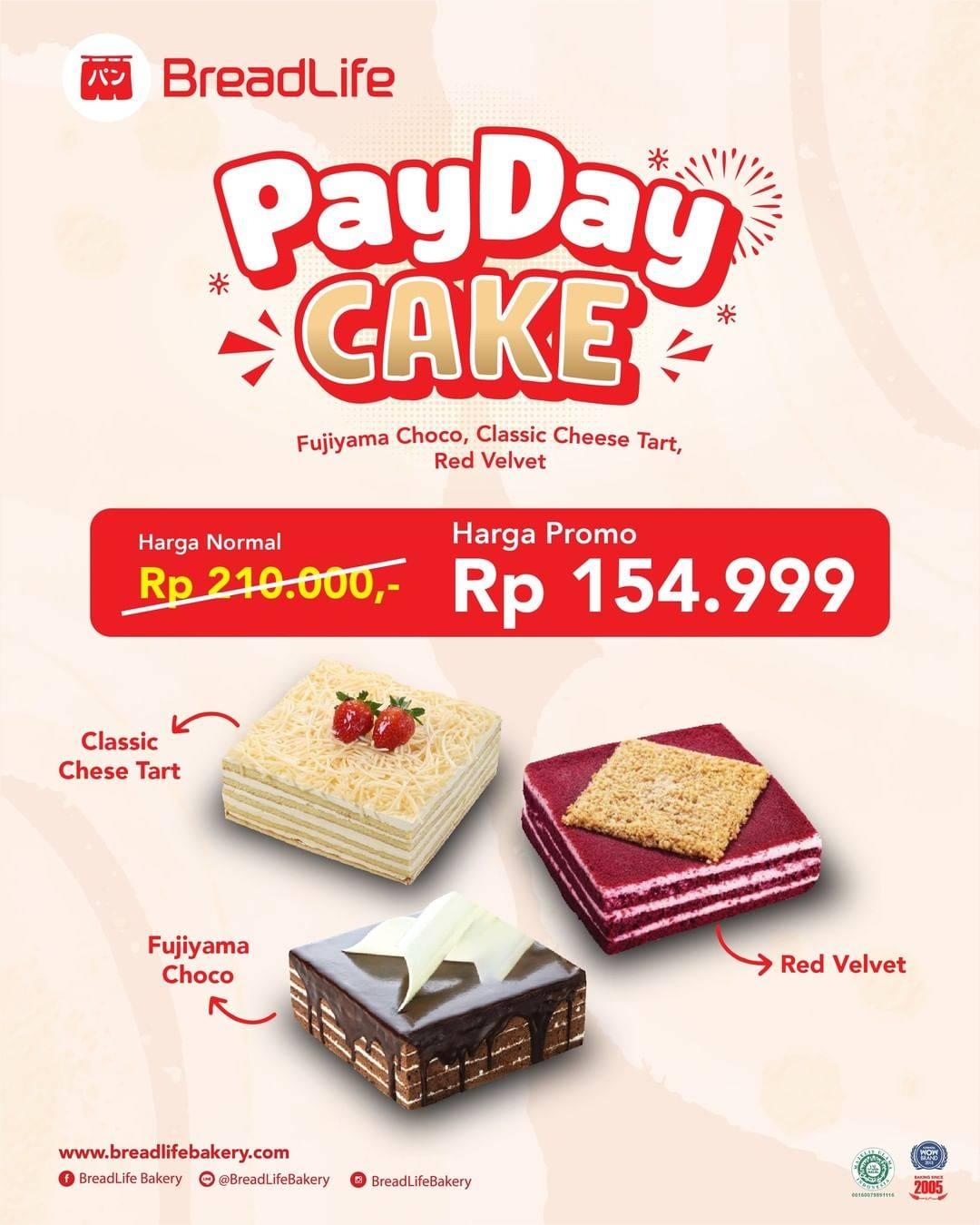 Diskon Breadlife Promo Payday Cake Hanya Rp. 154.999