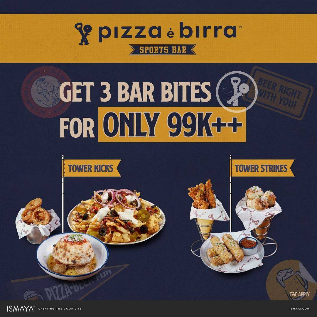 Promo diskon Pizza E Birra Promo Tuesday-Sunday All Day Long