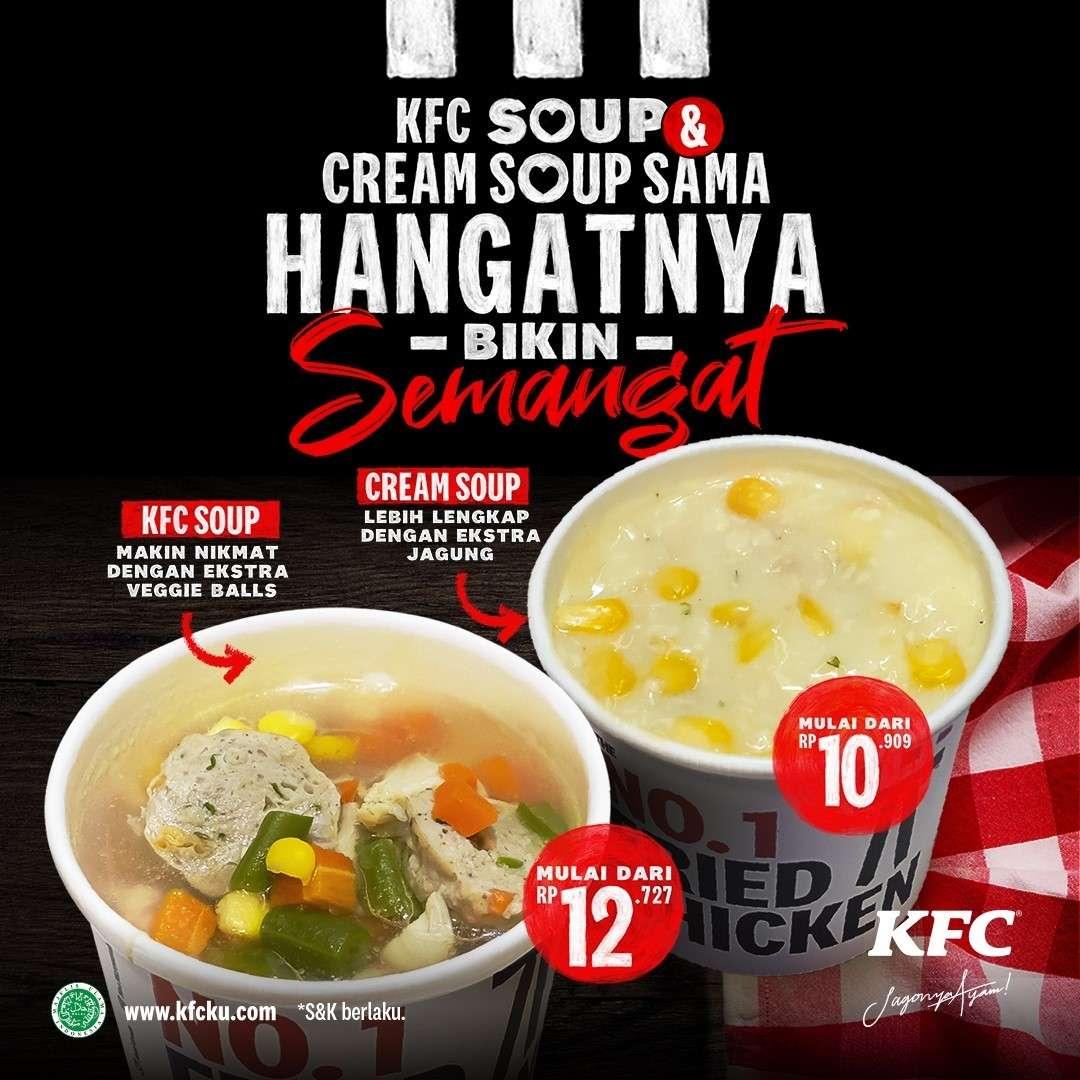 Diskon KFC Promo Soup Harga Mulai Dari Rp. 10.000