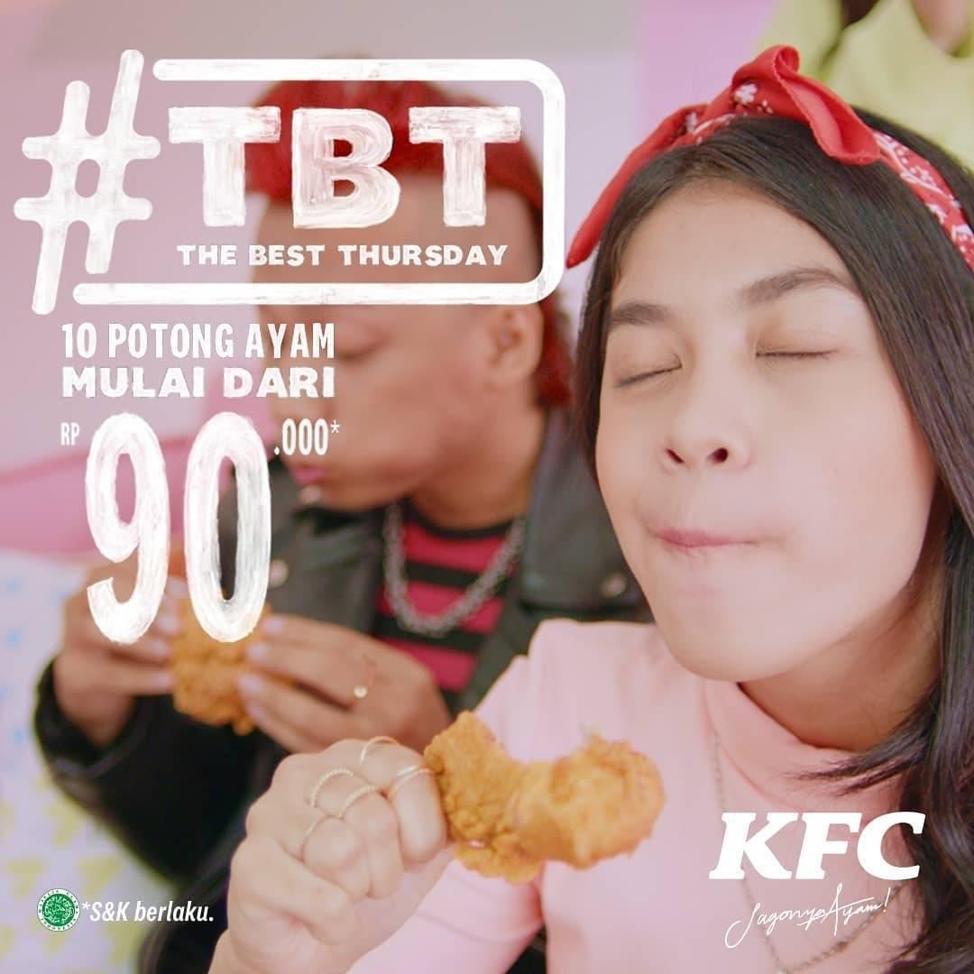 Diskon KFC Promo 10 Pcs Ayam Hanya Rp. 90.000