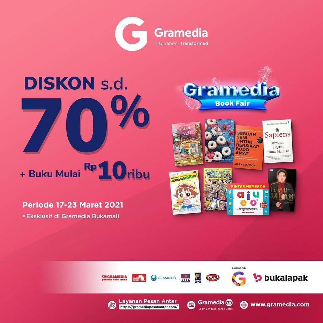 Diskon Gramedia Diskon Hingga 70% + Buku Mulai Rp. 10.000