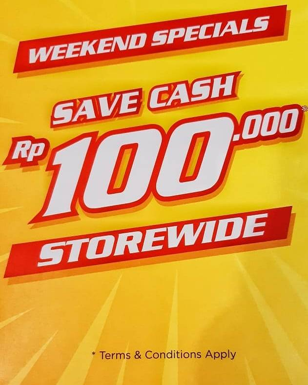 Diskon Sport Station Weekend Special Save Cash Rp. 100.000 Storewide