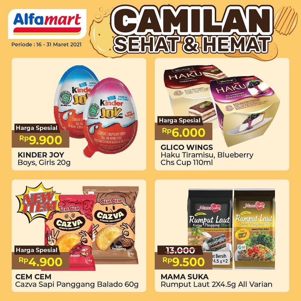 Diskon Katalog Promo Alfamart Camilan Sehat & Hemat Periode 16 - 31 Maret 2021