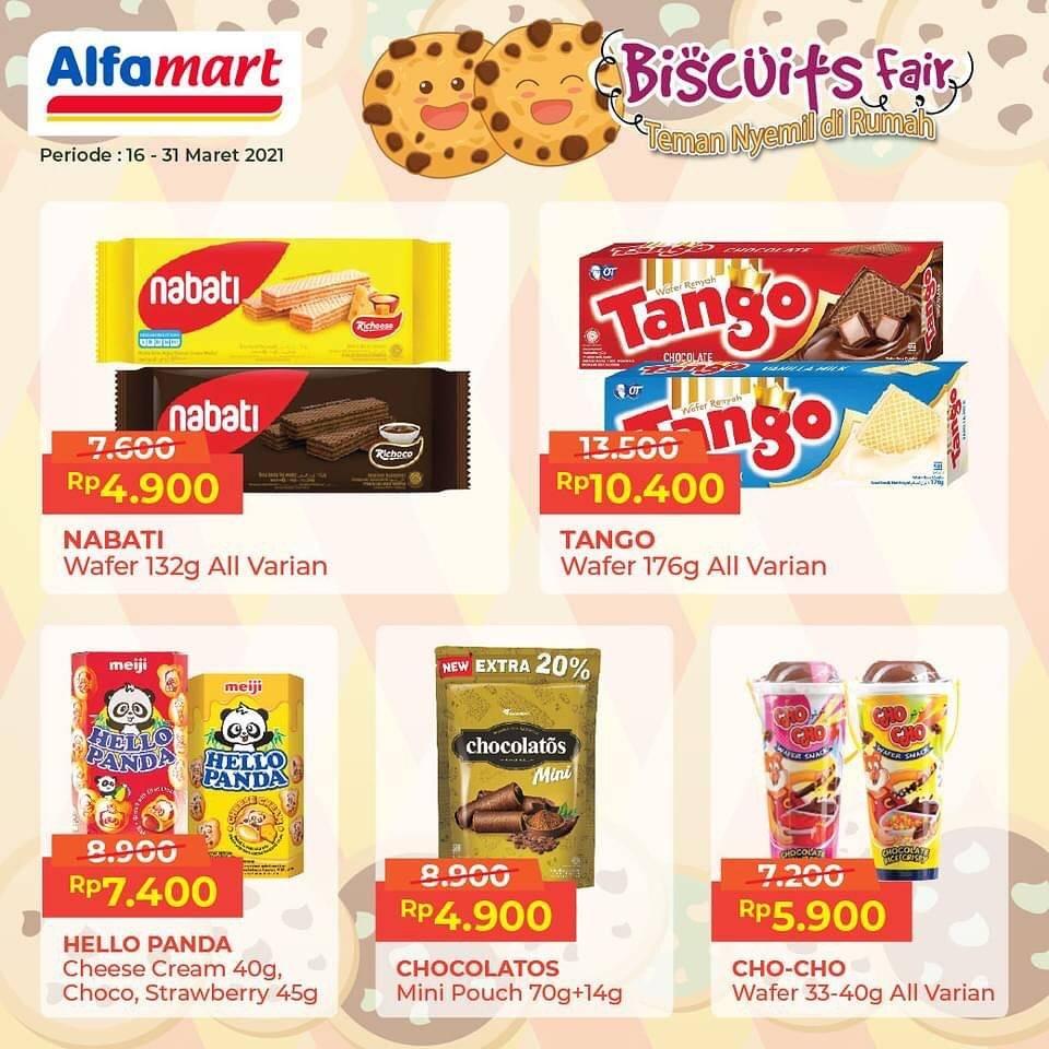 Diskon Katalog Promo Alfamart Biscuits Fair Periode 16 - 31 Maret 2021