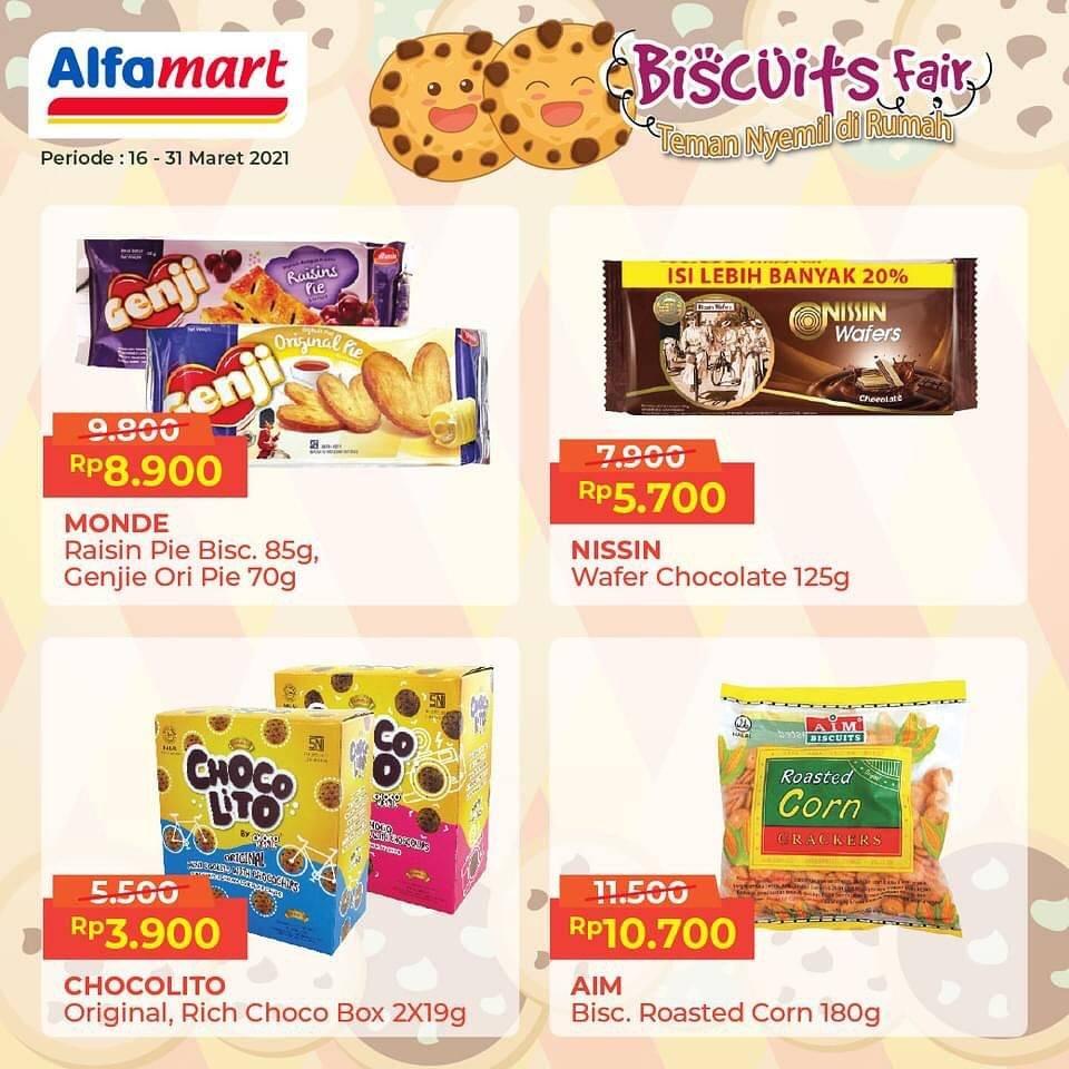 Promo diskon Katalog Promo Alfamart Biscuits Fair Periode 16 - 31 Maret 2021